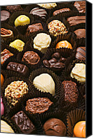 Nuts Canvas Prints - Assorted candy Canvas Print by Garry Gay