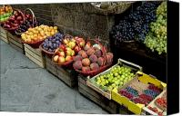 Fruit Markets Canvas Prints - Assorted Fresh Fruits Of Berries Canvas Print by Todd Gipstein