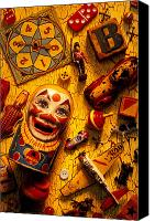 Collectible Canvas Prints - Assorted old toys Canvas Print by Garry Gay