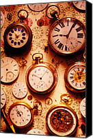 Time Piece Canvas Prints - Assorted watches on time chart Canvas Print by Garry Gay