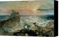 Stormy Canvas Prints - Assuaging of the Waters Canvas Print by John Martin