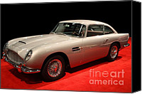 Import Cars Canvas Prints - Aston Martin DB5 Front Angle Canvas Print by Wingsdomain Art and Photography