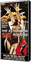 1950s Poster Art Canvas Prints - Astounding She-monster, 1957 Canvas Print by Everett