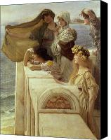 Alma-tadema; Sir Lawrence (1836-1912) Canvas Prints - At Aphrodites Cradle Canvas Print by Sir Lawrence Alma-Tadema