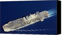 Commemorating Canvas Prints - At Sea With Uss Belleau Wood Canvas Print by Stocktrek Images