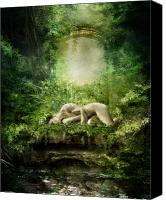 Woodland Canvas Prints - At Sleep Canvas Print by Karen Koski