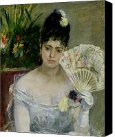 1875 Canvas Prints - At The Ball Canvas Print by Berthe Morisot