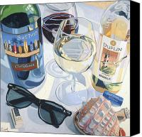 Wine Art Canvas Prints - At the Beach  Canvas Print by Christopher Mize