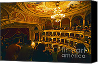 Chandelier Canvas Prints - At The Budapest Opera House Canvas Print by Madeline Ellis