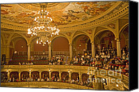 Hungary Canvas Prints - At The Budapest Opera Canvas Print by Madeline Ellis
