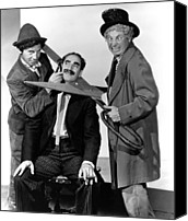 Publicity Shot Canvas Prints - At The Circus, From Left Chico Marx Canvas Print by Everett