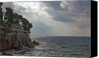 Dubrovnik Canvas Prints - At the edge of the sea in Dubrovnik Canvas Print by Madeline Ellis