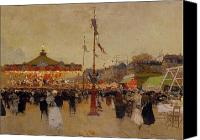Lamppost Canvas Prints - At the Fair  Canvas Print by Luigi Loir