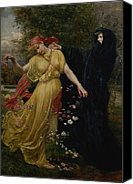 Grb Canvas Prints - At The First Touch of Winter Summer Fades Away Canvas Print by Valentine Cameron Prinsep
