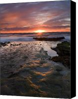 Beaches Canvas Prints - At the Horizon Canvas Print by Mike  Dawson