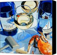 Crab Canvas Prints - At the Rivah Canvas Print by Christopher Mize