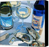 Wine Canvas Prints - At The Rivah Number Two Canvas Print by Christopher Mize
