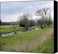 Country Scenes Canvas Prints - At The River Canvas Print by Jan Amiss Photography
