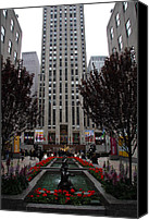 Fontain Canvas Prints - At The Rockefeller Center Canvas Print by Christiane Schulze