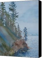 Evergreens Canvas Prints - At The Waters Edge Canvas Print by Jenny Armitage