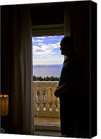 Taormina Canvas Prints - At the Window in Taormina Canvas Print by Madeline Ellis
