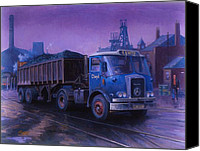 Atkinson Canvas Prints - Atkinson bulk coal tipper Canvas Print by Mike  Jeffries