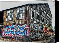 Photographers Atlanta Canvas Prints - Atlanta Graffiti Warehouse Canvas Print by Corky Willis Atlanta Photography