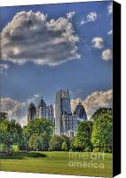 Photographers Atlanta Canvas Prints - Atlanta Piedmont Park View Canvas Print by Corky Willis Atlanta Photography