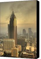 Atlanta Canvas Prints - Atlanta Skyline at dusk Canvas Print by Robert Ponzoni