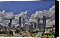 Photographers Atlanta Canvas Prints - Atlanta Skyline Canvas Print by Corky Willis Atlanta Photography