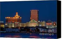 Skylines Canvas Prints - Atlantic City skyline at night. Canvas Print by John Greim