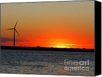 Patrick Mills Canvas Prints - Atlantic City SunSet 2010 Canvas Print by Patrick Mills