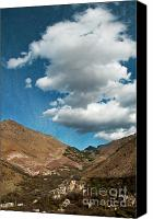 Village Canvas Prints - Atlas mountains 2 Canvas Print by Marion Galt