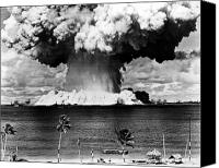 Beach Photograph Canvas Prints - Atomic Bomb Test, 1946 Canvas Print by Granger