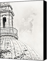 Statehouse Canvas Prints - Atop Canvas Print by Lourry Legarde