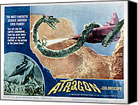 Subject Poster Art Canvas Prints - Atragon, Aka Kaitei Gunkan, 1963 Canvas Print by Everett