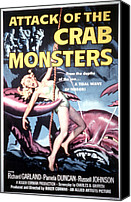 1950s Poster Art Canvas Prints - Attack Of The Crab Monsters, Poster Canvas Print by Everett