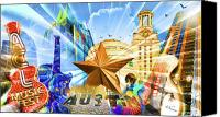 Austin Canvas Prints - ATX Montage Canvas Print by Andrew Nourse