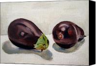 Food Painting Canvas Prints - Aubergines Canvas Print by Sarah Lynch