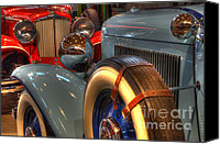 Classic Automobiles Canvas Prints - Auburn vs Cord  Canvas Print by Bob Christopher