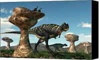 Mushroom Canvas Prints - Aucasaurus Among Hoodoos Canvas Print by Daniel Eskridge
