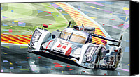 Racing Car Canvas Prints - AUDI R18 e-tron quattro Canvas Print by Yuriy  Shevchuk