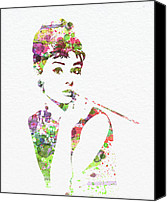 Cult Canvas Prints - Audrey Hepburn 2 Canvas Print by Irina  March