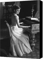 Important Canvas Prints - Audrey Hepburn Canvas Print by George Daniell and Photo Researchers