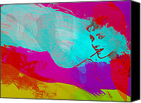 Actor Canvas Prints - Audrey Hepburn Canvas Print by Irina  March