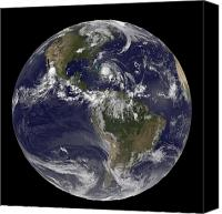 Natural Disasters Canvas Prints - August 24, 2011 - Satellite View Canvas Print by Stocktrek Images