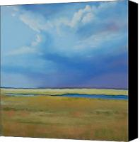 Storm Clouds Pastels Canvas Prints - August Sky Canvas Print by Jeanne Rosier Smith