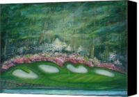 Augusta Golf Painting Canvas Prints - Augusta National Perfect Golf Day II Canvas Print by Phyllis OShields
