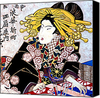 Asian Art Canvas Prints - Aunt Annie Canvas Print by Tom Roderick