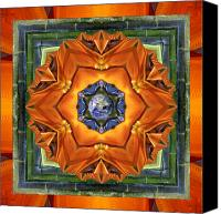 Spiritual. Geometric Canvas Prints - Aura Bamboo Canvas Print by Bell And Todd